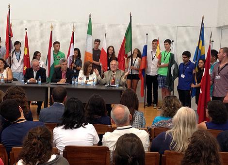 Öppningsceremoni vid miljökonferensen CEI2015 . Foto: Karin Warlin.