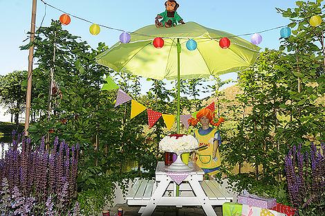 Pippi firar 70 i år, något som uppmärksammas i Råga Hörstad Plantskolas berså.
