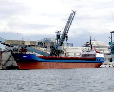M/V Amirante väntas åter till Landskrona hamn på torsdag.