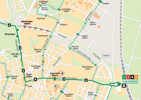 Stadsbusslinje 4 får en delvis ny körväg om två veckor.
