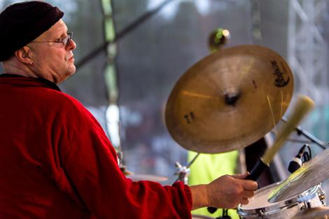 ... men först en turné med Beatlejazz och dess grundare Brian Melvin... Foto: Pressbild.