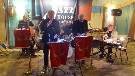 """Jazz i Baljan spelade på """"Konserven"""" på Gråen. Foto: Per Månsson"""