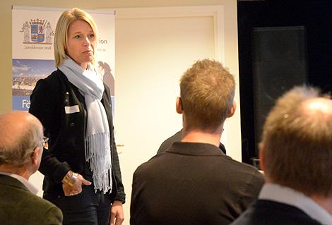 Näringslivschef Anna Classon syns ofta ute bland stadens företagare.