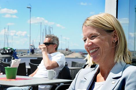 Anna Classon är stadens tillväxt- och näringslivschef och hon har varit med att ta fram den nya grafiska profilen.