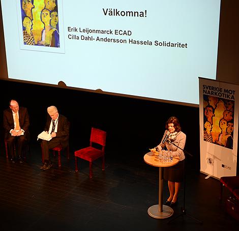 Drottning Silvia inviger Sverige mot narkotika.