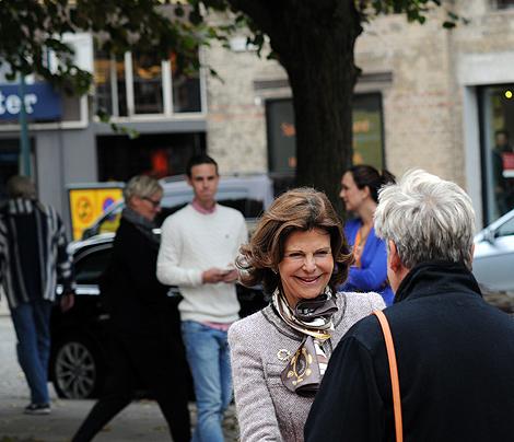 Ordförande i individ- och familjenämnden Bodil Möller (M) fanns också med i välkomstkommittén.