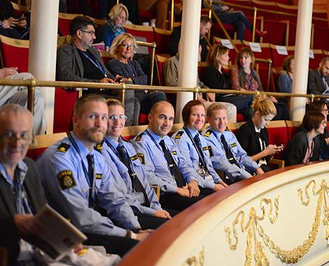 Polisen var på plats som åhörare under konferensen.