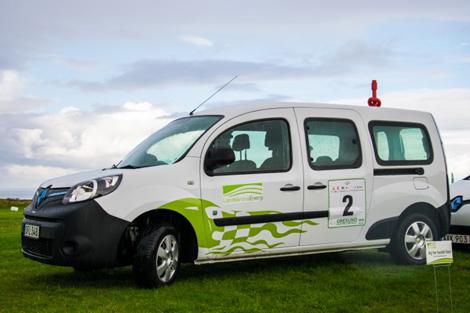 Landskrona Energi deltog i Öresund Electric Car Rally. Foto; Ursula Hallén