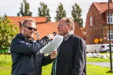 Dennis Westerberg fick även ett par ord med Torkild Strandberg.