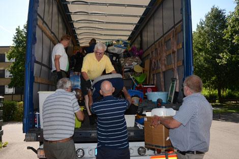 Sista hjälpsändningen  till Lettland på väg