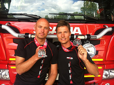 Dahn Elmqvist och Mattias Vildevik från Räddningstjänsten i Landskrona.