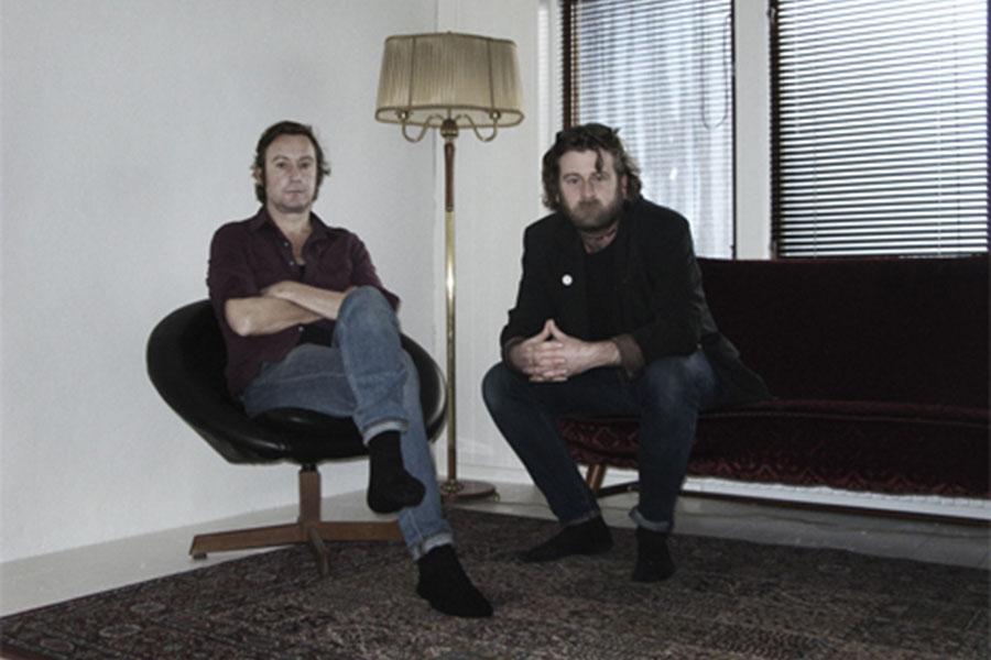 Jonas Bergh och Thomas H Johnsson släpper den sista boken i bluestriologin från Landskrona. Foto: Harry Ernholdt