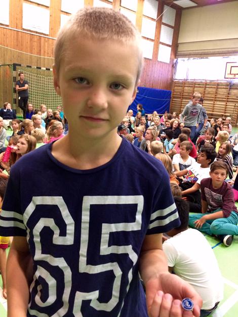 Edwin Skovlund i klass 4A på Västervångskolan var en av 53 långsimmare.