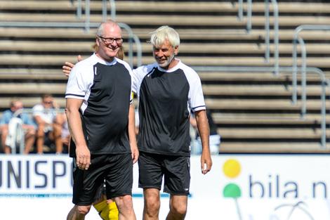 Sonny Johansson och Claes Cronqvist coachade varsitt lag. Foto Ulf Bjarke