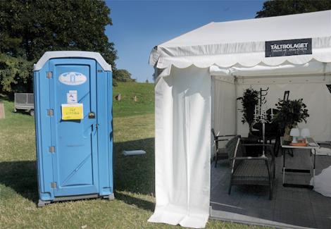 Kunglig toalett på Citadellet, kommer inte till användning. Den heller...