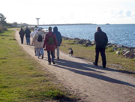 Bild från en tidigare pilgrimsvandring i Landskrona.