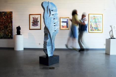 Antonio Pasquini och Aniela Wojdyno Pasquinis är glada och nöjda med sin utställning på Pumphuset.