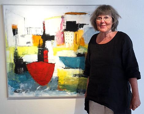 Känslorna styr hur Ullastina Larsson målar.