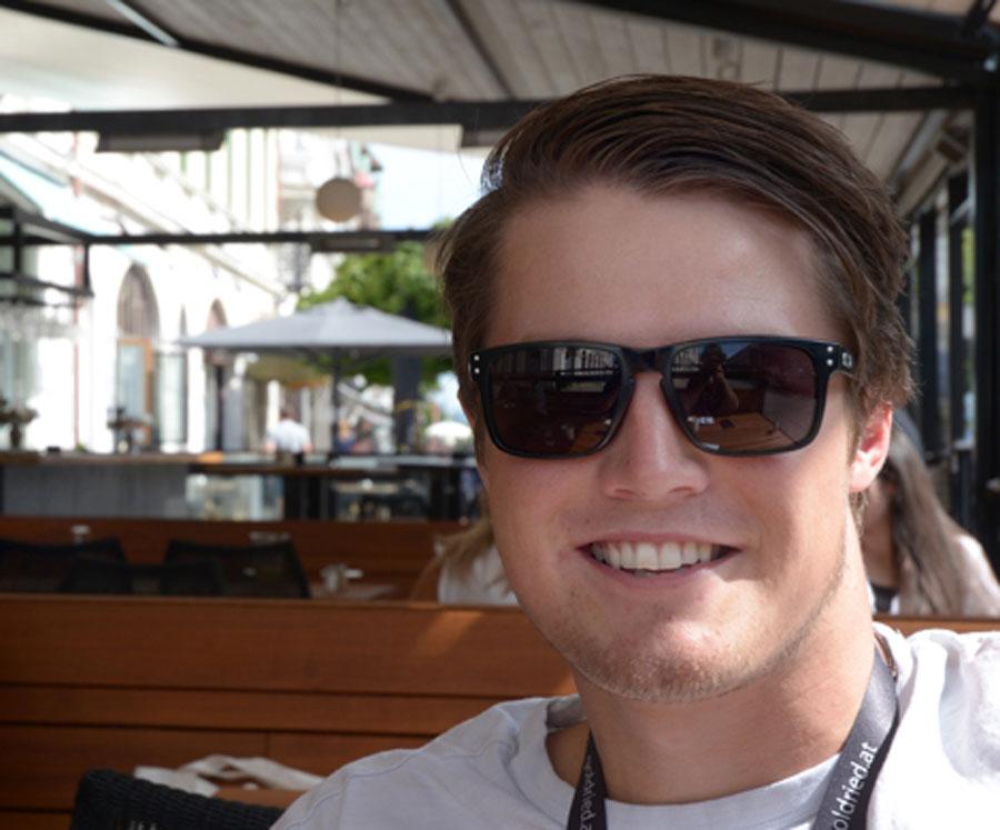 Alexander Köll är en av åkarna som får stöttning från Bauhaus med sikte mot VM 2019 i Åre.