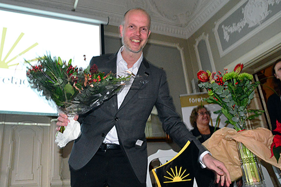 Industrihälsan i Landskronas ägare och VD Martin Forsmark som tilldelades utmärkelsen Årets Företagare i Landskrona.