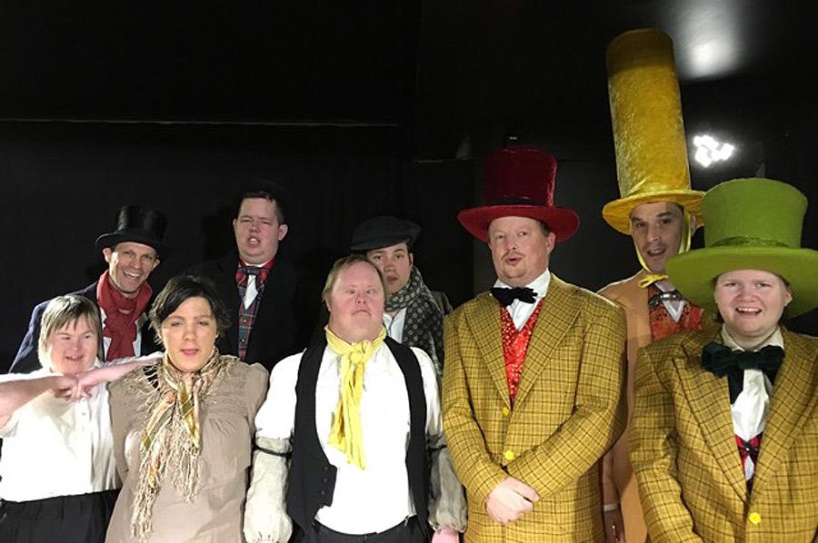 På torsdag och fredag ger Öresundsteatern och Brukarensemblen Oluf Brock - en landskronitisk julsaga. Foto: Öresundsteatern
