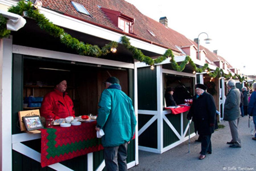 Julmarknad på Plorren