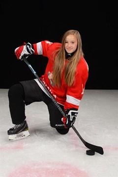 Emelia Karlsson är uttagen till ungdoms-OS. Foto: Malmö Redhawks.