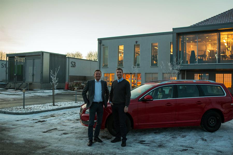 Jens Thystrup från IT Gården och Jimmy Ek från Ohlssons ser fram emot ett givande samarbete.