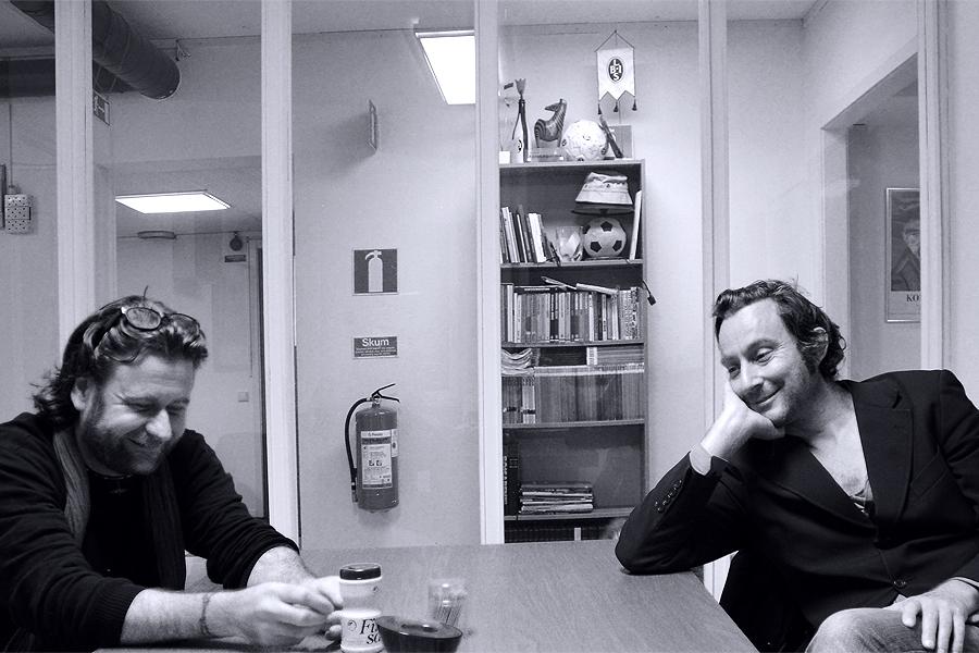 """I väntan på släppfesten för nya boken """"En sista blues från Landskrona"""", var Thomas H Johnsson och Jonas Bergh ute på en PR-turné."""