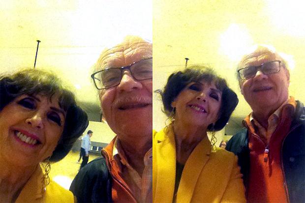 Elisabet Höglund och Lennart Andersson på en flygplats i södra Spanien igår.