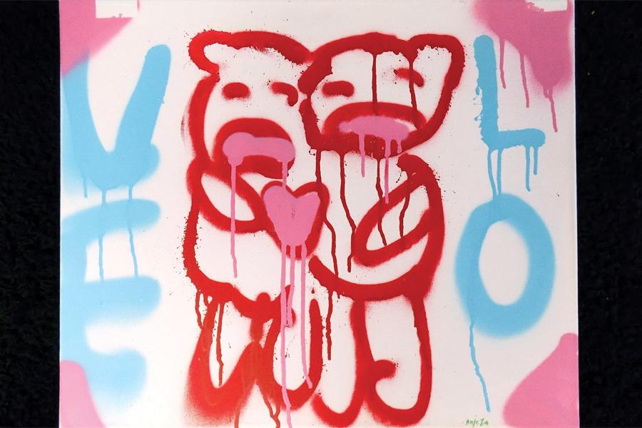 Graffitiutställning visas på stadsbiblioteket