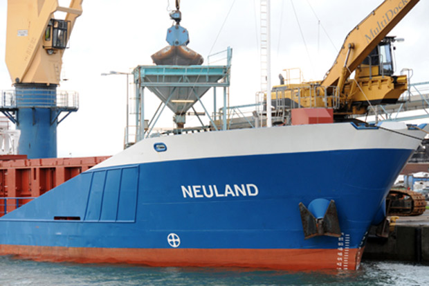 På tisdagen anlöper M/V Neuland Landskrona hamn för att lossa till Yara