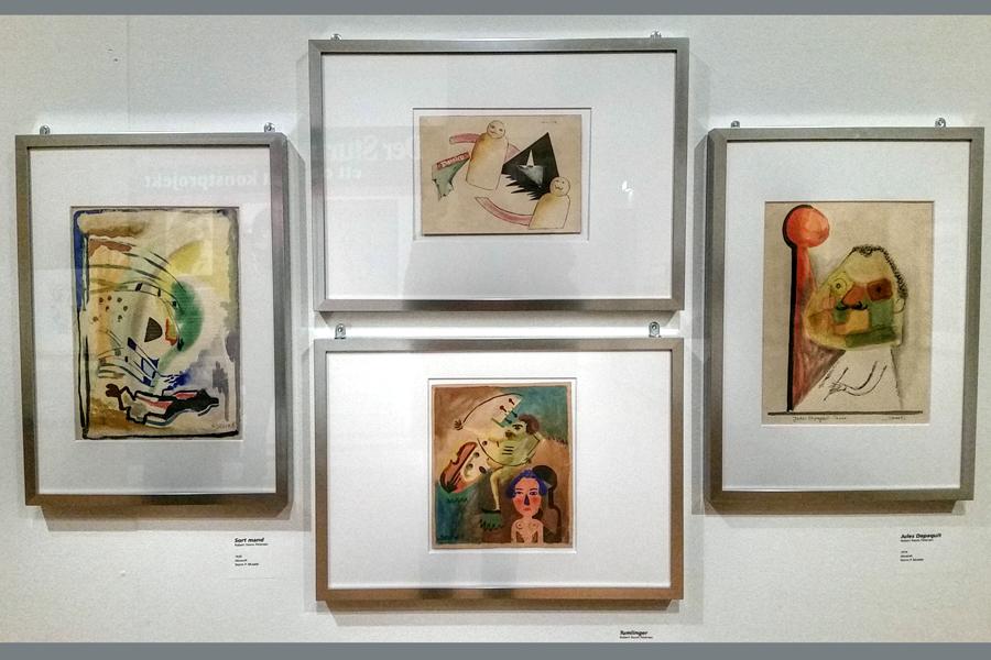 Den danske humoristen  Storm P, det vill säga Robert Storm Petersen, är en i kretsen kring Der Sturm.  Andra namn i gruppen som kan nämnas är Edvard Munch, Man Ray, Gaugin, Chagall, Picasso, Kandinsky men också åtta svenskar däribland paret Grünewald, varav museets eget verk av Isaac finns med i utställningen samt en inlånad målning från Moderna Museet av hustrun Sigrid.