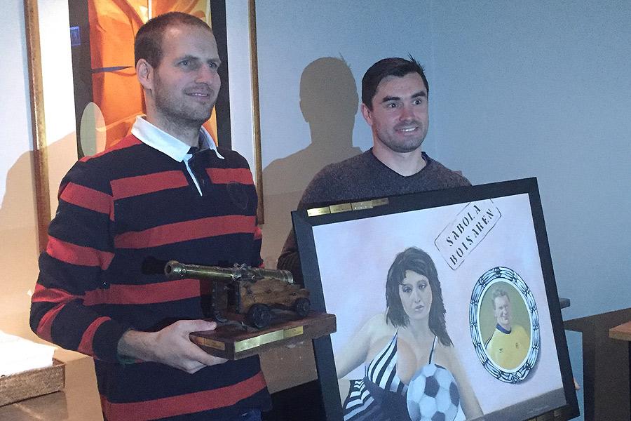 BoISarna Mikael Dahlgren och Igor Arsenijevic prisades i helgen då Sabola höll sitt årsmöte