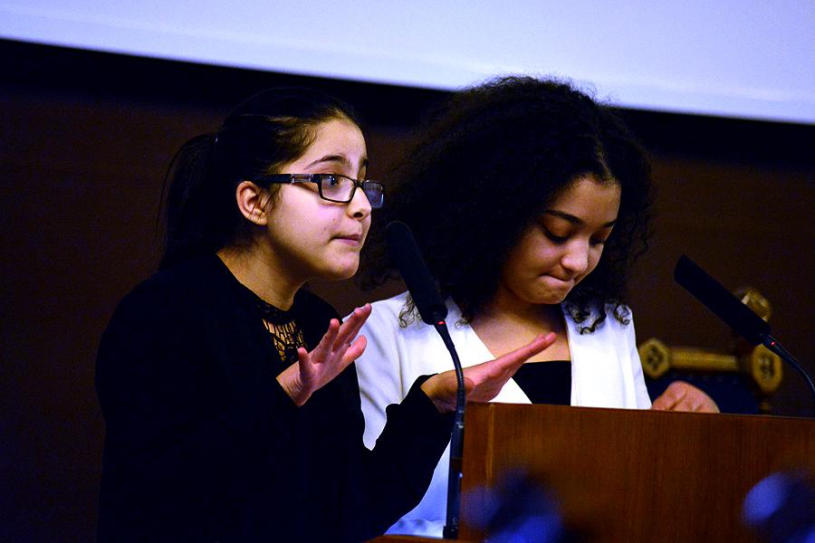 Inlevelsen och förmågan att uttrycka sig från talarstolen var imponerande hos eleverna från Allvar Gullstrandgymnasiet.