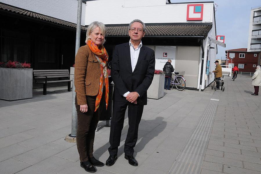 Helena Fremle, VD på Landskronahem här tillsammans med Kenneth Håkansson styrelseordförande i bolaget svar idag på flera frågor om försäljningen av Sandvången och Pilängen.