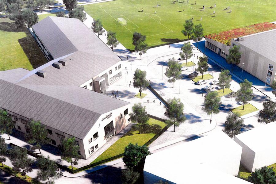 Höstterminen 2017 öppnar Internationella Engelska skolan i Landskrona men redan i dag går det att ansöka om en plats. Illustration: Liljewall Arkitekter AB.