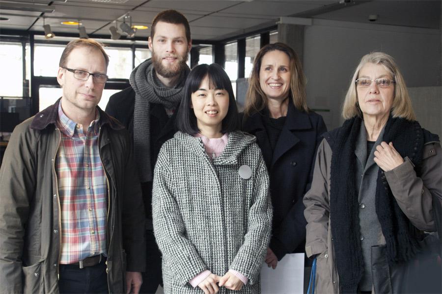 Här är årets fyra debutanter i Nordvästra Skånes Konstrunda samt årets Helmer Långstipendiat, Kiwa Saito.