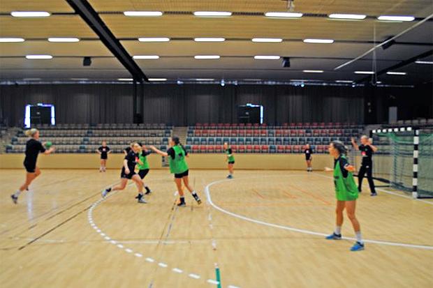 Damerna U20-landslag har legat på läger i Landskrona i veckan. Foto: Landskrona stad.