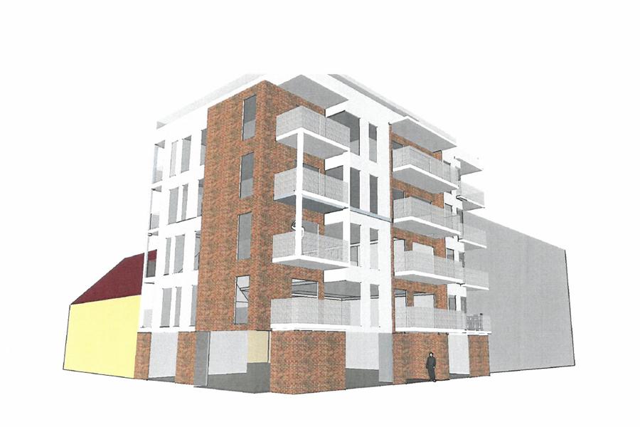 Illustration av hur det är tänkt att det nya huset kommer att se ut.