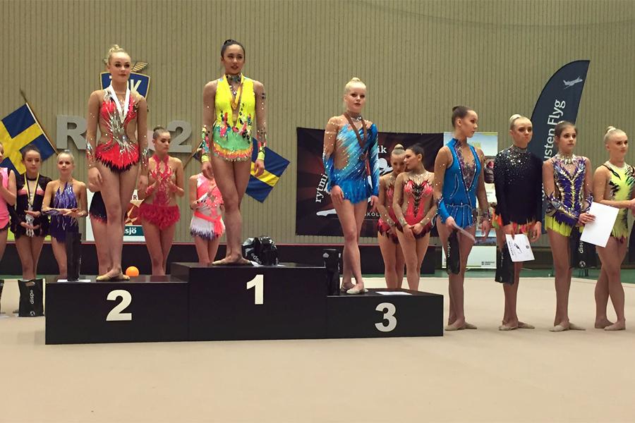 Landskrona fanns även representerat på juniorpallen.