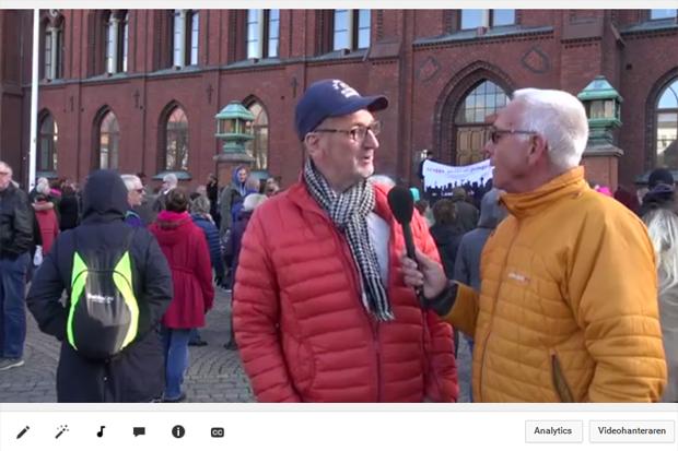 Rörliga bilder från måndagens demonstration