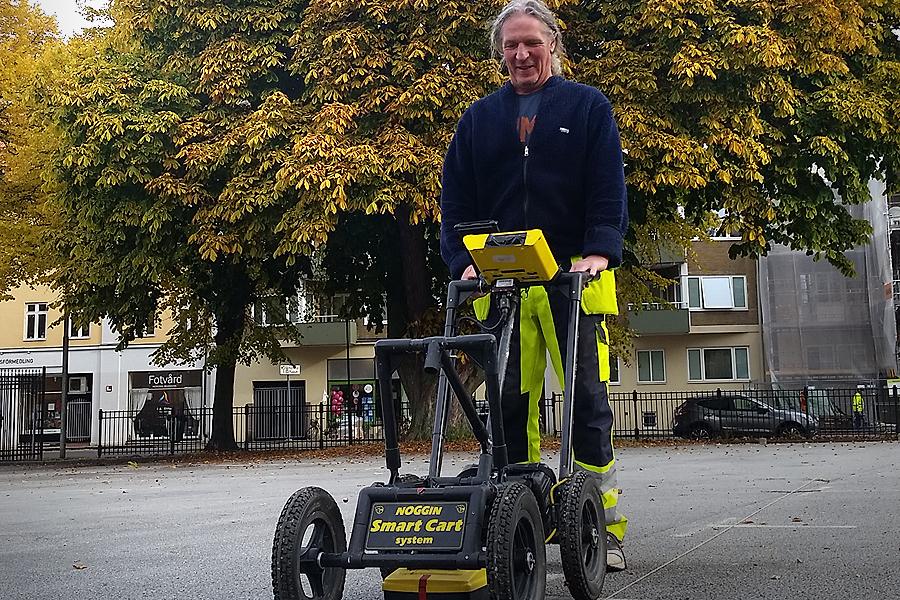Arkeolog Bengt Westergaard från Statens historiska museer var i höstas på plats och tillsammans med en kollega genomförde han då en markradarundersökning.