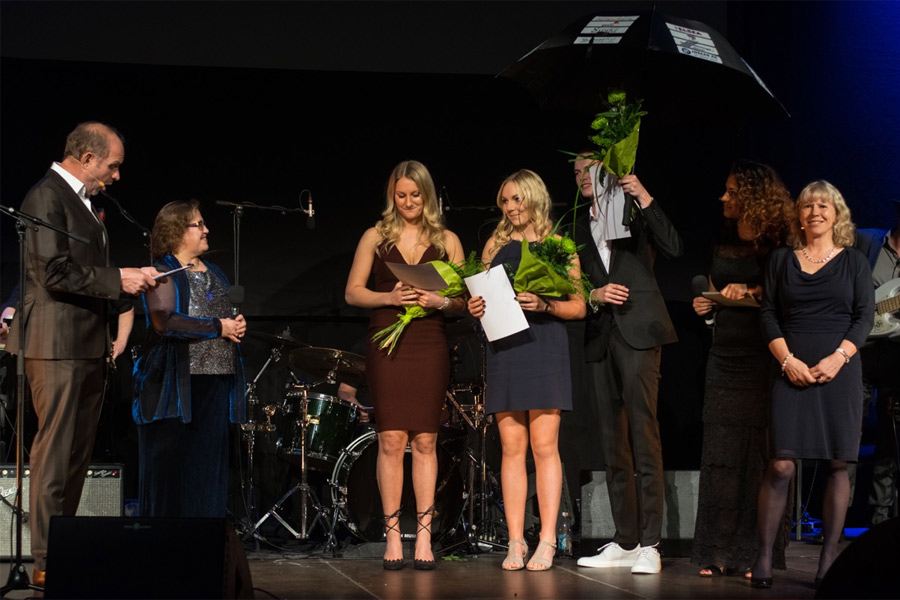 Årets UF-företagare blev Landskronaparaplyet UF. Foto: Ursula Hallén.