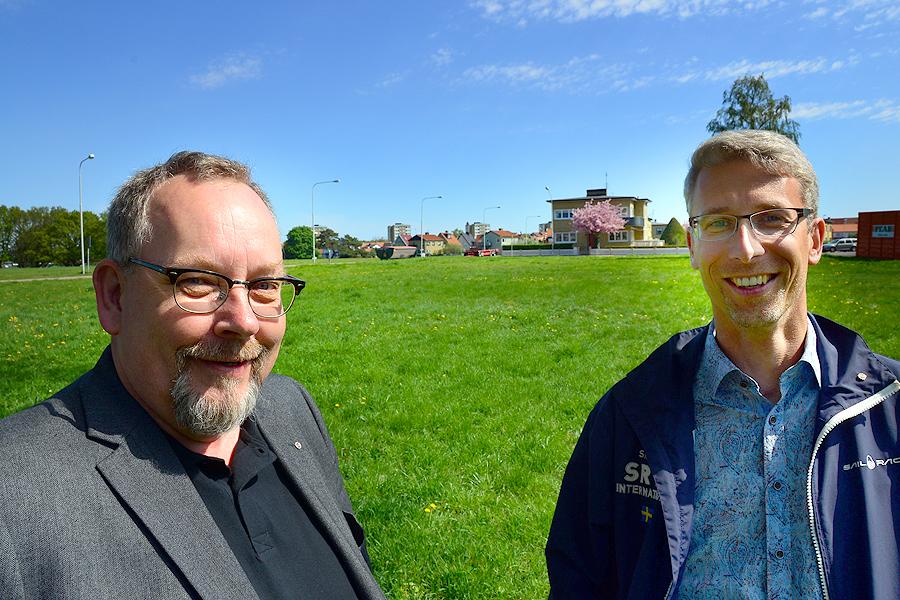 På Lägerplatsen vill HSB bygga men den tidigare tanken om ett 55+ bygge är skrotat. - Vi vill inte kategorisera våra boende, säger Anders Olsson.