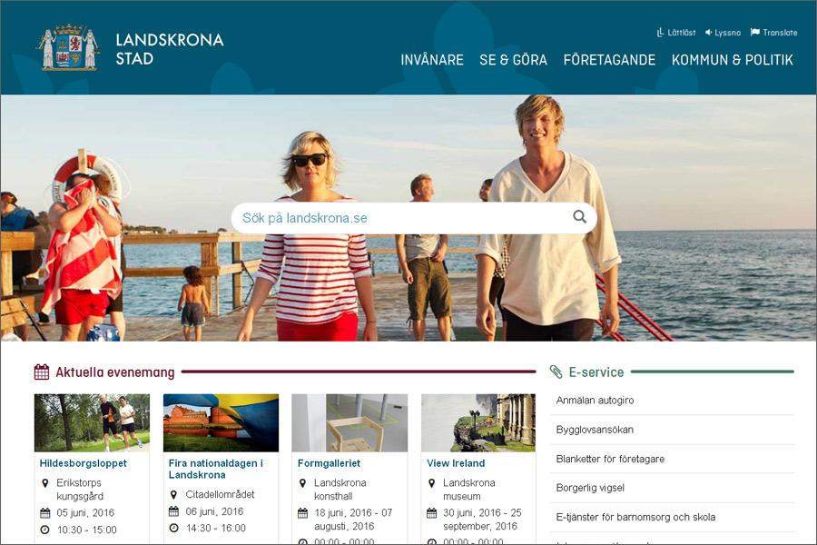 Kommunen presenterar ny hemsida