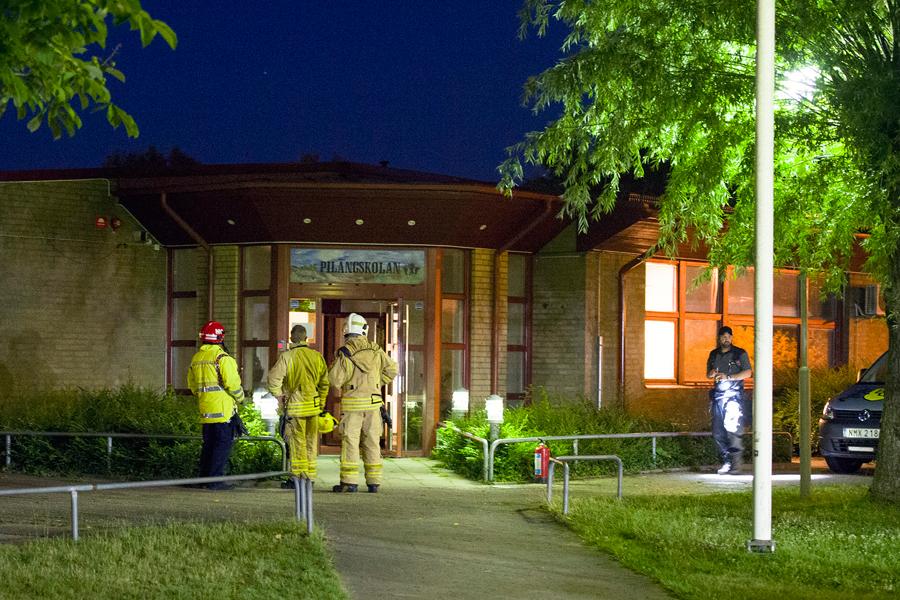 Anlagd brand på Pilängskolan