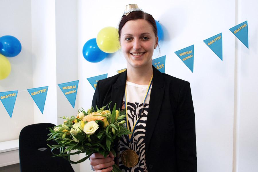 Hanna Johansson blev i onsdags svensk mästare i Excel. Foto: Privat
