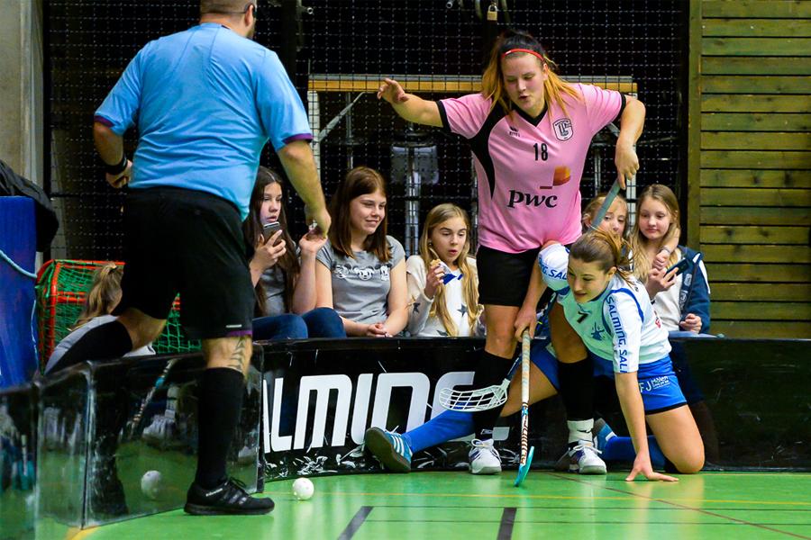 Innebandyn är en av sporterna som flitigast utnyttjar den nuvarande idrottshallen i Häljarp.  Foto: Ulf Bjarke - Foto261.se