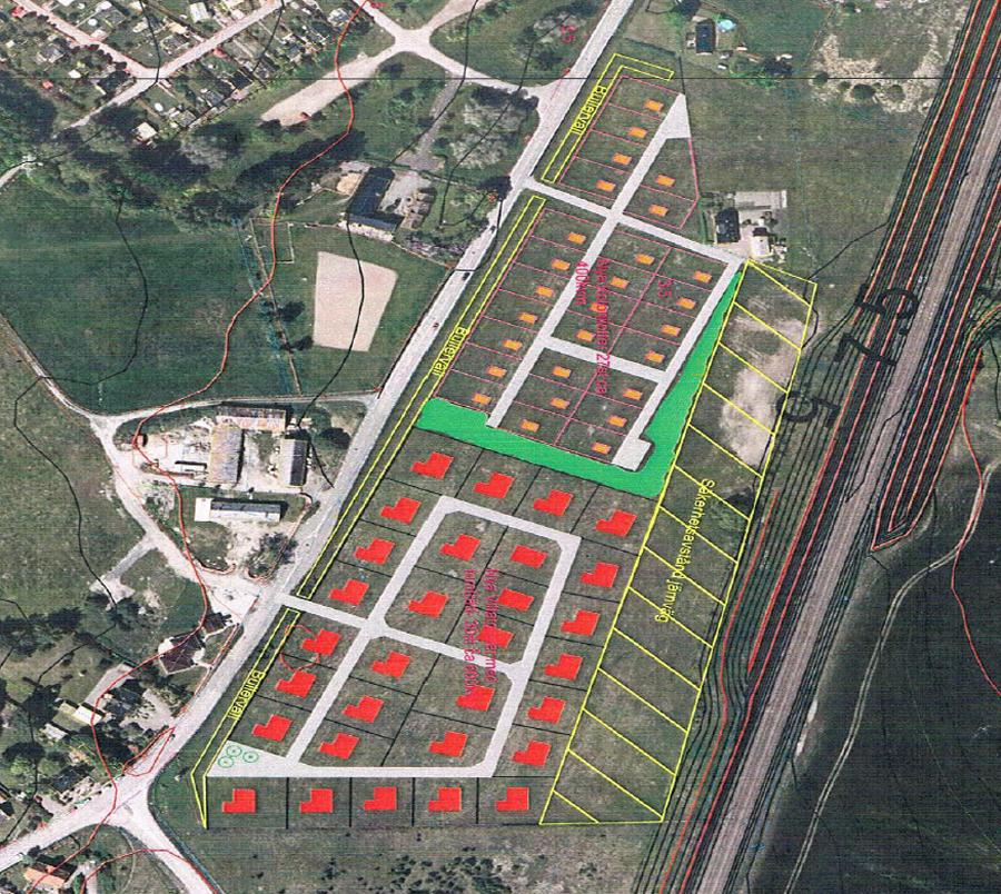Såhär föreslår stadsbyggnadsförvaltningen i Landskrona att Axeltofta koloniområde ska se ut 2021.
